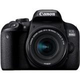 Aparat foto DSLR EOS 800D, 24.2MP, Wi-Fi, Negru + Obiectiv EF-S 18-55mm f/3.5-5.6 IS STM, Canon