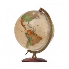 Glob pamantesc iluminat Antiquus, cartografie politica, 30 cm