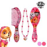 Set de Înfrumuseţare pentru Fete Patrula CaninăPerie + pieptene roz