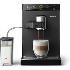 Espressor Philips automat HD8829/09, 1850 W, sistem automat Easy Cappuccino, rasnite ceramice, boiler incalzire rapida, 15 bar, 1.8 l, negru