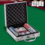 Set de Poker cu Servietă Luxe Th3 Party (100 jetoane)