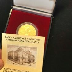 Moneda de aur aniversara 1998, valoare nominala de 1000 lei