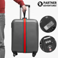 Curea pentru Bagaje cu Cântar și Cod de Securitate Partner Adventures - Valiza