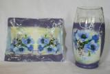 Set vaza si platou Colectia Vintage Blue Anemone