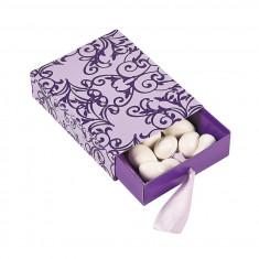 12 x Purple & Lilac Pull Nunta Cutii Favor - Marturii nunta