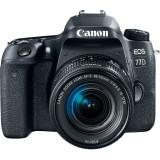 Aparat foto DSLR EOS 77D, 24.2MP, Wi-Fi, Negru + Obiectiv EF-S 18-55mm f/3.5-5.6 IS STM, Canon