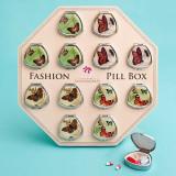 Cutii pentru medicamente în formă de evantai în modele destul de fluture