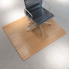 Covor scaun/protecție podea, bambus, 90 x 120 cm, natural