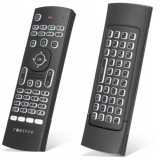 Telecomanda Smart TV, Airmouse 3D, tastatura wireless, iluminata, Forever SR-110