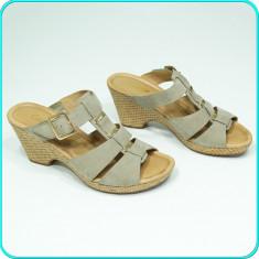 NOI, DE FIRMA → Sandale dama, din piele, comode, usoare, GABOR → femei | nr. 40, Culoare: Bej, Piele naturala