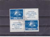 EXIL ROMANIA EUROPA 1960 IN PERECHECU VIGNETA STAMPILAT PRIMA ZI!