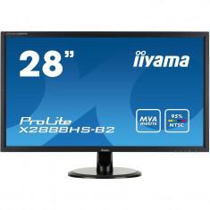 Monitor LED IIyama Prolite X2888HS-B2 28 inch 5ms Black, Mai mare de 27 inch, 1920 x 1080