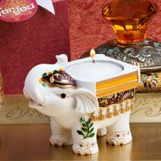 Figurina Elefant Suport Lumanare - Marturii botez