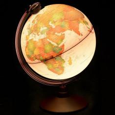 Glob geografic Marco Polo iluminat 25 cm