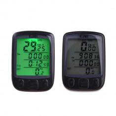Computer wireless LCD cu kilometraj si 28 functii pentru bicicleta, Ciclocomputer bicicleta