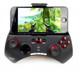Controler Bluetooth iPega, Gamepad cu stand smartphone maxim 5.5 inch, iOS si Android