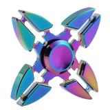 Spinner Fidget jucarie metalica, 4 brate, multicolor, ESPERANZA