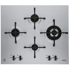 Plita incorporabila Electrolux X-line EGU6648LXX, gaz, 4 arzatoare, 60 cm, aprindere electrica, ultra plata 5 mm, inox