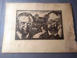 Nicolae Brana – Gravura - Romania 1942 ( 1 ) RARITATE  EXTREMA !, Istorice, Grisaille, Realism