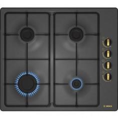 Plita incorporabila Bosch gaz PBP6B3B60, 4 arzatoare, aprindere electrica, negru