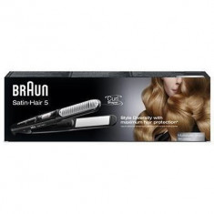 Placa de indreptat parul Satin Hair ST550, placi ceramice, 200 grade, negru - Placa de par Braun