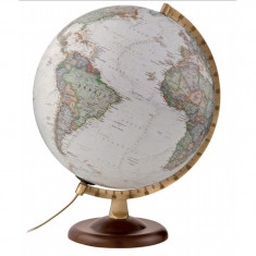 Glob iluminat Gold Executive, 30 cm, harta National Geographic