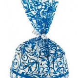12 x bleumarin Swirl Pungi celofan