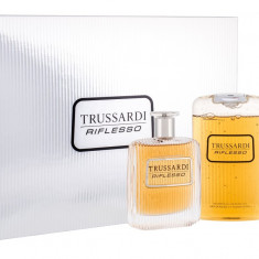 Apa de toaleta Trussardi Riflesso Barbatesc 100ML Edt 100 ml + Gel de dus 200 ml + Deodorant 100 ml - Parfum barbati