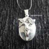 Pandantiv medalion pentru poza din argint cu ingeras