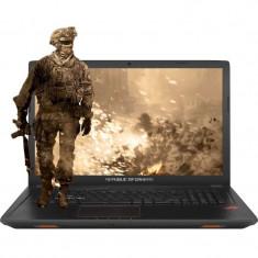 Laptop Gaming ASUS 17.3 FHD, Intel Core i7-7700HQ 2.80 GHz, Full HD, 32GB, 1TB + 128GB M.2 SSD, DVD-RW, NVIDIA GeForce GTX 1050 4GB, Endless, Black