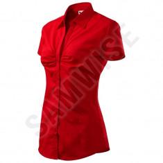 Camasa de dama chic (Culoare: Rosu, Marime: L, Pentru: Femei) - Camasa dama
