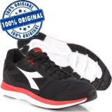 Pantofi sport Diadora Heron pentru barbati - adidasi originali - alergare /panza, 40, 46, Negru, Textil
