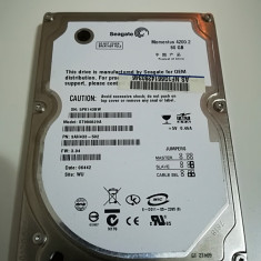 Hard disk 2.5 laptop IDE ATA 80Gb Seagate Momentus 4200 ST980829A 8Mb, 41-80 GB