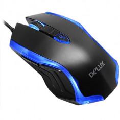 Mouse M556 Black/Blue, USB, Delux