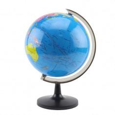 Glob pamantesc harta politica, 21.4 cm, cu meridian, suport ABS
