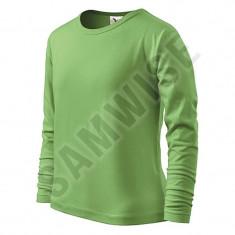 Tricou pentru copii long sleeve, 100% bumbac (Culoare: Verde iarba, Marime: 134cm/8 ani, Pentru: Copii)