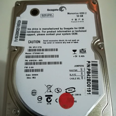 Hard disk 2.5 laptop IDE ATA 50Gb Seagate Momentus 4200 ST950814a 8Mb, 41-80 GB