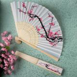 Evantai Matase Imprimeu Floare de Cires