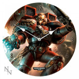 Ceas de perete din sticlă Warhammer 40000 Blood Angels
