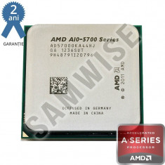 Procesor AMD Trinity, Vision A10-5700 3.4GHz (Turbo 4GHz), Quad Core, Cache 4MB, Video Radeon HD 7660D - Procesor PC AMD, AMD V Series, Numar nuclee: 4