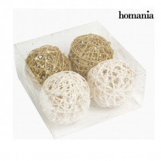 Globuri de Crăciun Alb Aur (4 pcs) by Homania - Globuri brad