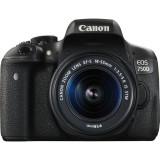 Aparat foto DSLR EOS 750D, 24.2MP, Black + Obiectiv EF-S 18-55mm IS STM, Canon