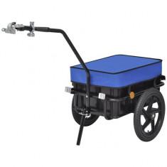 Remorcă/căruț pentru bicicletă, 70 L, albastru