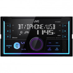 Player auto KW-X830BT, 2DIN, 4x50W, USB, AUX, Bluetooth, Culori variabile - CD Player MP3 auto JVC
