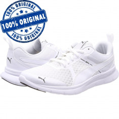 Pantofi sport Puma Flex Essential pentru barbati - adidasi originali - alergare - Adidasi barbati Puma, Marime: 40, 40.5, 41, 42.5, 43, 44, 44.5, 45, 46, Culoare: Alb, Textil