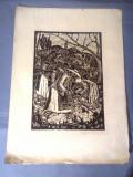 Nicolae Brana – Gravura - Romania 1942 ( 4) RARITATE  EXTREMA !, Istorice, Grisaille, Realism