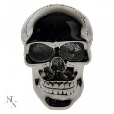 Capăt schimbător viteze Craniu argintiu - Maner schimbator si frana tuning