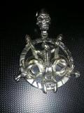 Pandantiv Colier Vintage/pentagrama craniu punk gothic UNICAT,Transp.GRATUIT