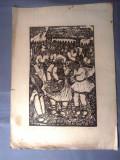 Nicolae Brana – Gravura - Romania 1942 (6) RARITATE  EXTREMA !, Istorice, Grisaille, Realism