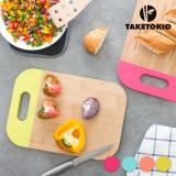 Planșetă de Bucătărie din Bambus cu Mâner TakeTokioPortocaliu